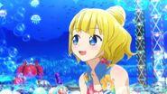 Mirei use her Blue hibicus summer cord