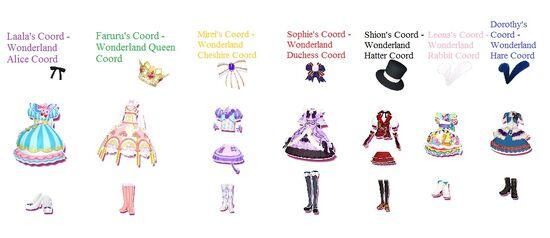 Alice in Wonderland Coords