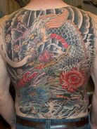 Japanese back tattoo by RedCraneTattoo
