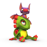 Yooka and Laylee Sitting