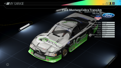 Project Cars Garage - Ford Mustang Cobra TransAm
