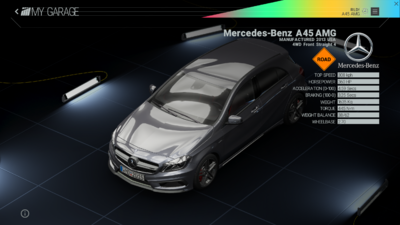 Project Cars Garage - Mercedes-Benz A45 AMG