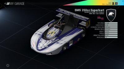 Project Cars Garage - SMS 250cc Superkart