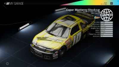 Project Cars Garage - Caper Monterey Stockcar