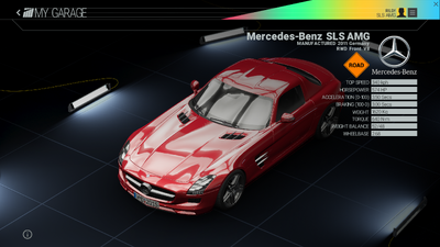 Project Cars Garage - Mercedes-Benz SLS AMG