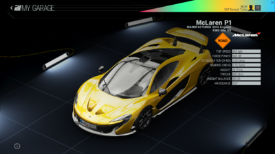 Project Cars Garage - McLaren P1