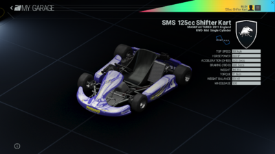 Project Cars Garage - SMS 125cc Shifter kart