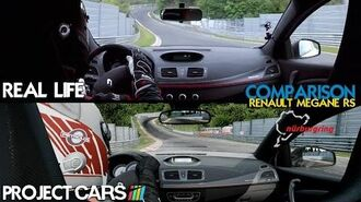 Project CARS Vs Real Life - Renault Megane RS @ Nordschleife - Comparison