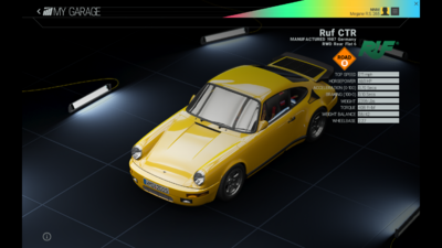 Project Cars Garage - Ruf CTR