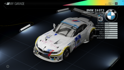 Project Cars Garage - BMW Z4 GT3