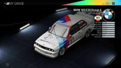 Project Cars Garage - BMW M3 E30 Group A