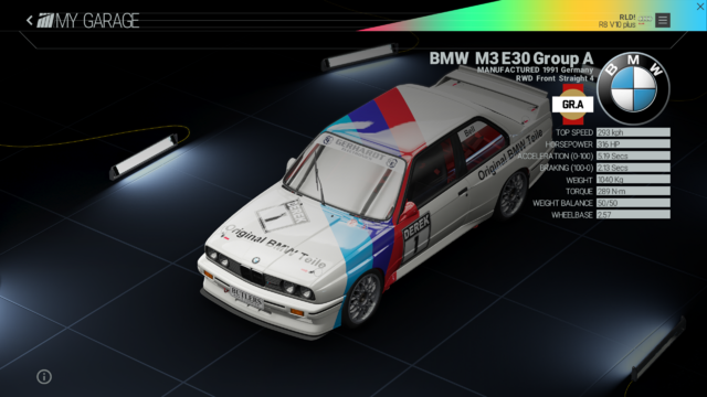 File:Project Cars Garage - BMW M3 E30 Group A.png