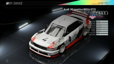 Project Cars Garage - Project Cars Garage - Audi 90 quattro IMSA GTO