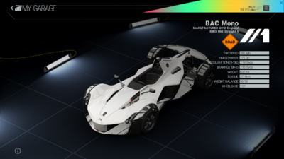 Project Cars Garage - BAC Mono