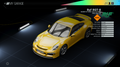 Project Cars Garage - Ruf RGT-8