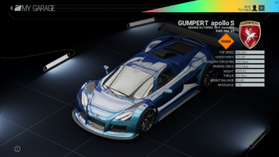 Project Cars Garage - Gumpert Apollo S