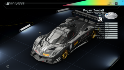 Project Cars Garage - Pagani Zonda R