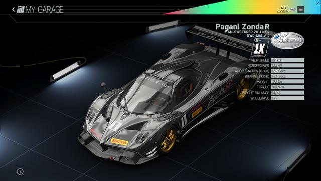 File:Project Cars Garage - Pagani Zonda R.png