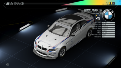 Project Cars Garage - BMW M3 GT4