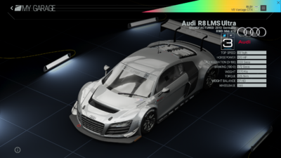 Project Cars Garage - Audi R8 LMS Ultra