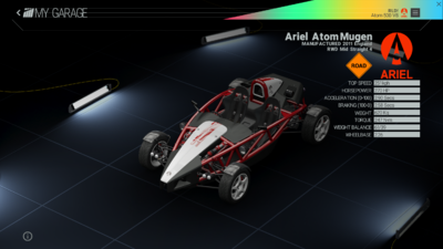 Project Cars Garage - Ariel Atom Mugen