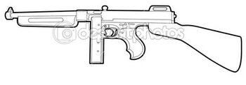 Dep 8138662-Outline-tommy-gun1