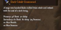 Dark Cobalt Greatsword