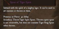 Spear of Tiger Spirit