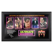 Ultimate Warrior Evolution of a Hall of Famer Plaque