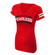 Nikki Bella Stay Fearless Women's V-Neck T-Shirt