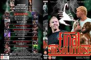 TNA Final Resolution DVD cover