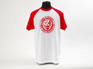 Red 'King Of Sports' Classic Lion Mark Baseball Sleeve T-Shirt