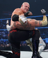 Kane submission on Rey Mysterio
