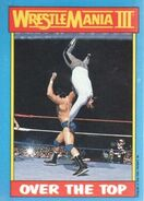 1987 WWF Wrestling Cards (Topps) Over The Top 53