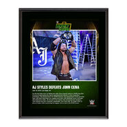 AJ Styles Money In The Bank 2016 10 x 13 Photo Plaque