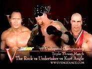 The Rock vs Undertaker vs Kurt Angle