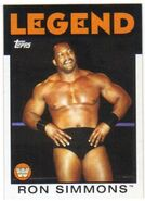 2016 WWE Heritage Wrestling Cards (Topps) Ron Simmons 100