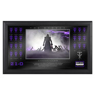 Undertaker The Streak Commemorative Plaque