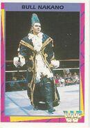 1995 WWF Wrestling Trading Cards (Merlin) Bull Nakano 128