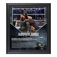 Bray Wyatt Survivor Series 2016 15 x 17 Framed Plaque w Ring Canvas