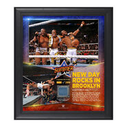 The New Day SummerSlam 2015 15 x 17 Photo Collage Plaque
