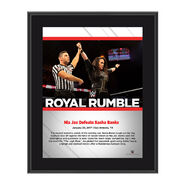 Nia Jax Royal Rumble 2017 10 x 13 Commemorative Photo Plaque