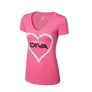 Total Diva Pink Women's V-Neck T-Shirt