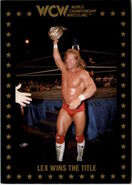 1991 WCW Collectible Trading Cards (Championship Marketing) Lex Wins The Title 94