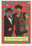 1987 WWF Wrestling Cards (Topps) Sticker Mr. Fuji & Killer Khan 14