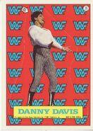 1987 WWF Wrestling Cards (Topps) Sticker Danny Davis 16
