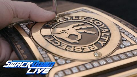 John Cena receives custom plates for his WWE Championship SmackDown LIVE Exclusive, Jan