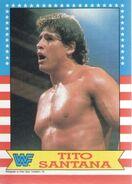 1987 WWF Wrestling Cards (Topps) Tito Santana 6