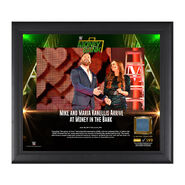 Mike & Maria Kanellis Money in the Bank 2017 15 X 17 Framed Plaque w Ring Canvas