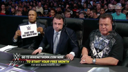 Michael Cole, Jerry Lawler & Byron Saxton - February 18, 2016